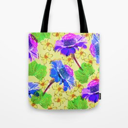 Flowers collage lilac yellow Tote Bag