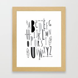 Tribal Be You Alphabet Framed Art Print