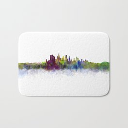 Los Angeles City Skyline HQ v3 Bath Mat
