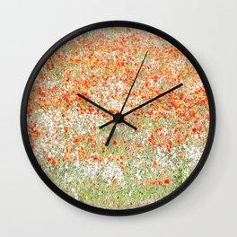 Flowers on the field Wall Clock