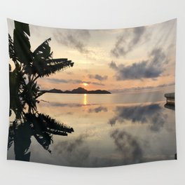 Sunset over Water Wall Tapestry