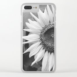 Sunflower Black And White 2 Clear iPhone Case