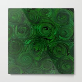 Emerald Green Roses Metal Print