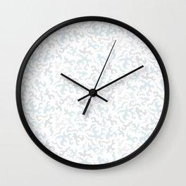 Abstrct pattern pale blue-grey Wall Clock