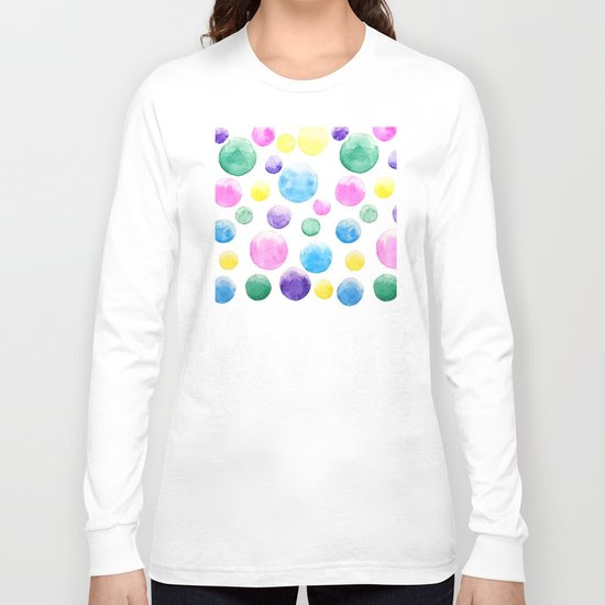 cheerful colorful bubbles Long Sleeve T-shirt