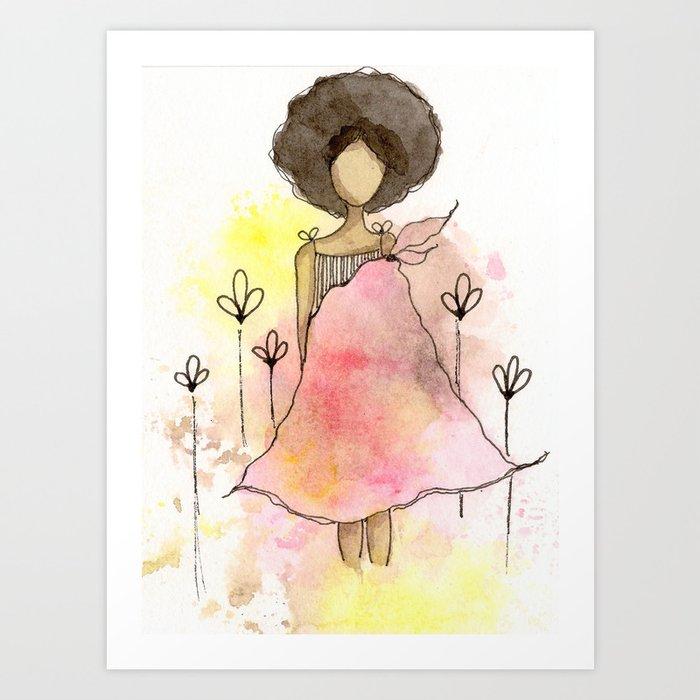 Splotch Girl - Freedom Cut Me Loose Art Print