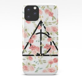 Floral Deathly Hallows iPhone Case