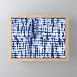 Shibori Tie Dye Pattern Framed Mini Art Print