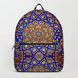 Geometric Traditional Golden Age Moroccan Artwork Tiles Backpack