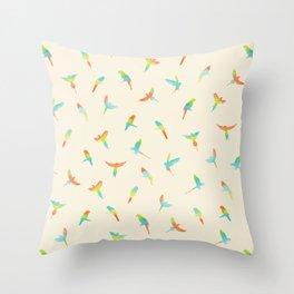 Parrots ! Papagei ! Throw Pillow
