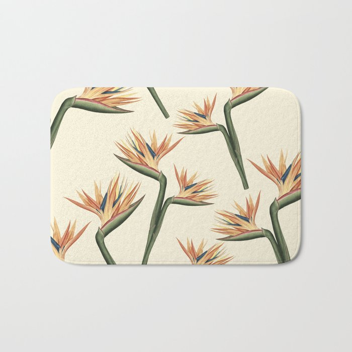 Birds of Paradise Flowers Bath Mat