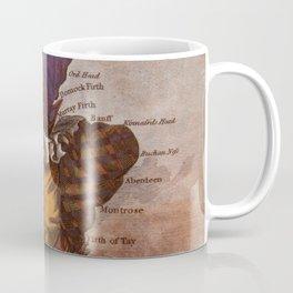 Vintage Illustrative Map of Scotland (1794) Coffee Mug