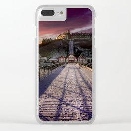 Footprints in the Snow Clear iPhone Case