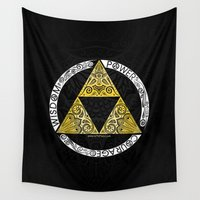 triforce Wall Tapestries featuring Zelda - triforce circle by Art & Be