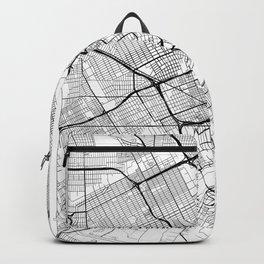 Detroit Map White Backpack