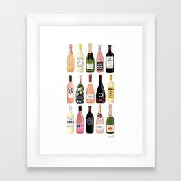 Wine & Champagne Bottles Framed Art Print