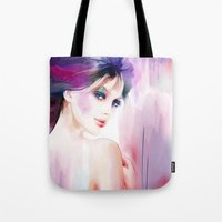 naked Tote Bags featuring naked by tatiana-teni