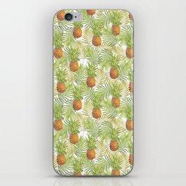 Watercolor tropical pineapple pattern iPhone Skin