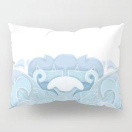 Blue Rosemaling letter O Pillow Sham