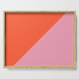 Bright Orange & Pink - oblique Serving Tray
