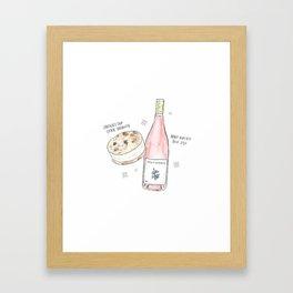 Ice Cream Sandwich + Rosé Framed Art Print