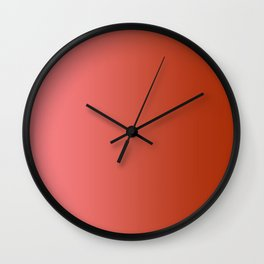 Pastel Red to Red Vertical Linear Gradient Wall Clock