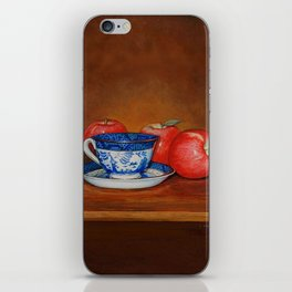 Teacup with Three Apples iPhone Skin