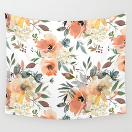 Peachy Keen Pattern Wall Tapestry