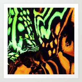 Neon animal skin Art Print