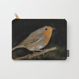 Little cute red robin bird Carry-All Pouch