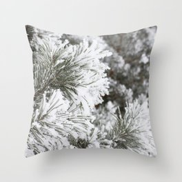 Dressed in Frost Throw Pillow