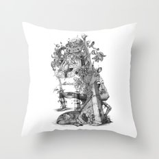 compositions Naturally (Black&White) Throw Pillow