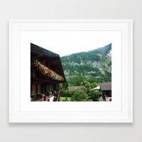 switzerland Framed Art Prints featuring Switzerland by ainslieeee