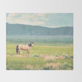Summer Pasture Throw Blanket