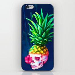 Pineapple Skull iPhone Skin