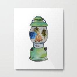 Camp Lantern Metal Print