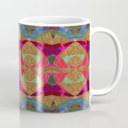 Glowing Geometric Tapestry Pattern Coffee Mug