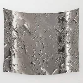 Silver Steel Abstract Metal Background Wall Tapestry