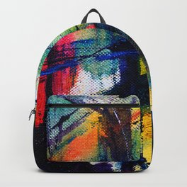 Hand draw colorful watercolor abstract background Backpack