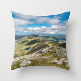 Waiting for the Train Throw Pillow