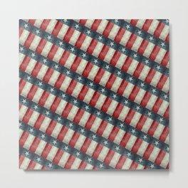 Retro style Texas state flag pattern Metal Print