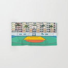 Ball is life - Baseball court Palmtrees Hand & Bath Towel