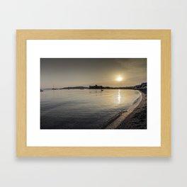 Bodrum Bay Sunset Framed Art Print