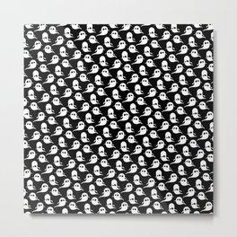 Ghost Pattern | Halloween Art | Boo | Spooky | Cute Illustration Metal Print