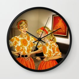 Daughter and Her Narcissistic Mother Wall Clock