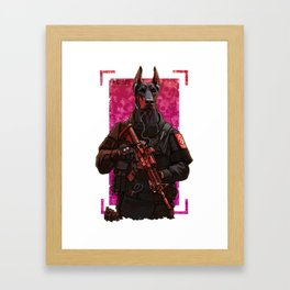 Polise dog two Framed Art Print