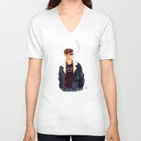 finn V-neck T-shirts featuring Finn by Galaxyspeaking