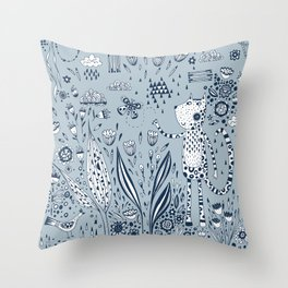 Many Happy Hours in the Garden Throw Pillow