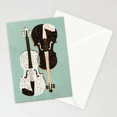 Two Violins Stationery Cards
