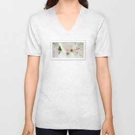Tiny Trumpet Flower Unisex V-Neck